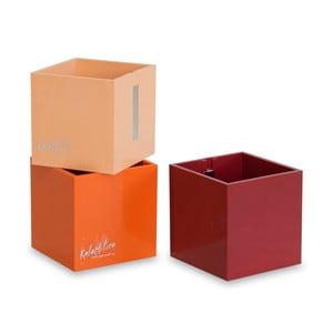 Set 3ks magnetických květináčů Cube Orange, střední