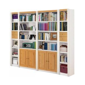 Bílá knihovna z borovicového dřeva Støraa Baylee Deep, šířka 2,55m