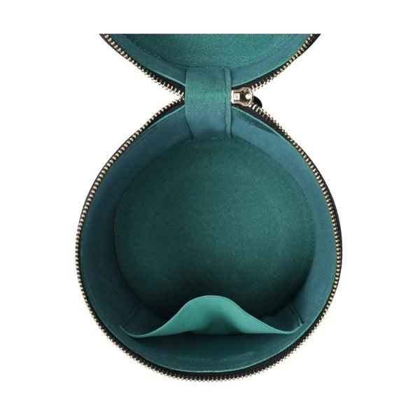 Tmavě modrá kožená kabelka Laura Ashley Stanley