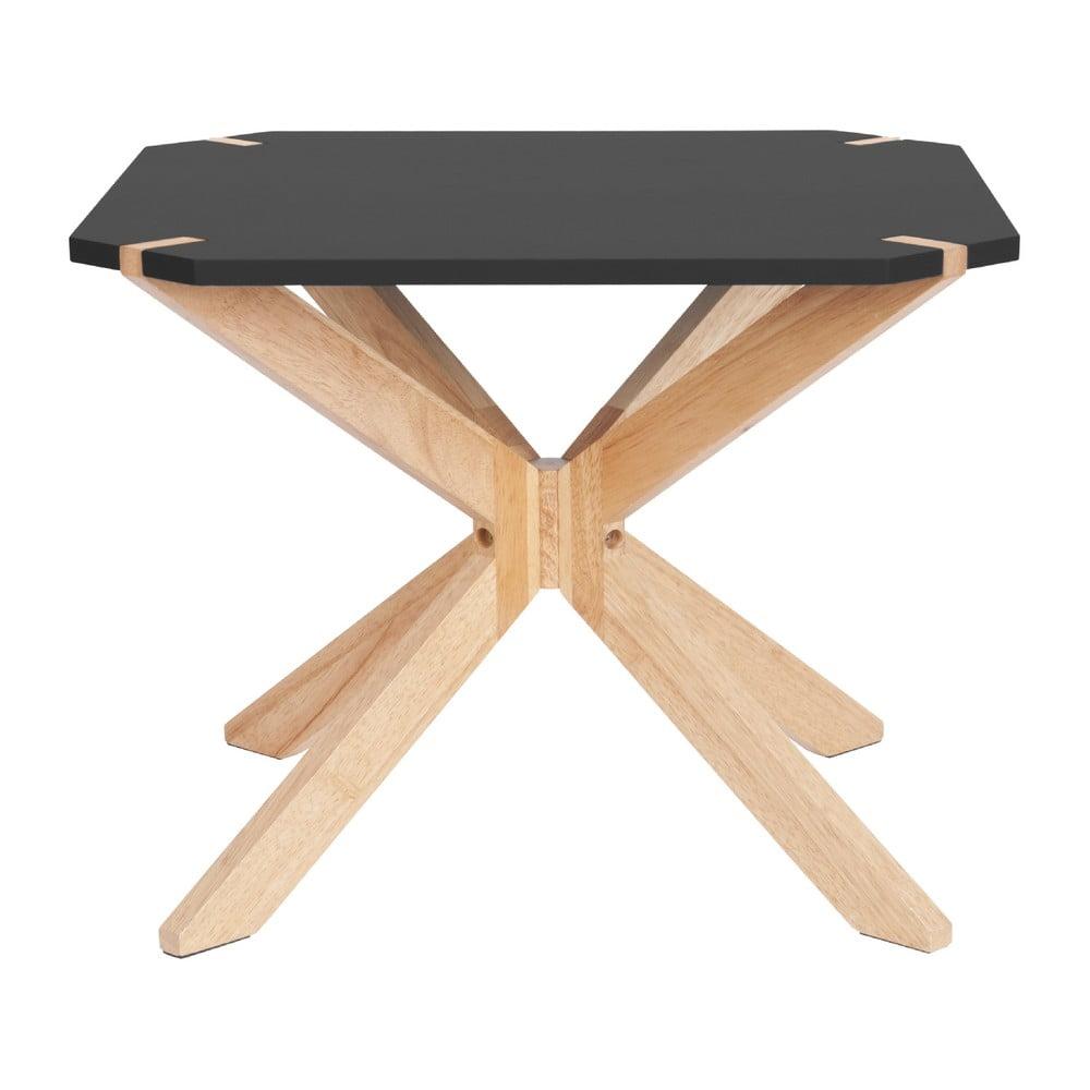 Černý konferenční stolek Leitmotiv Mister, 65 x 65 cm
