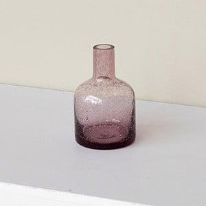 Vază roz din sticlă cu bule ComingB