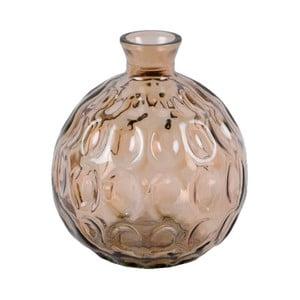 Kouřově hnědá skleněná váza z recyklovaného skla Ego Dekor Dune, výška 18 cm