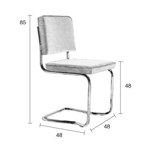 Sada 2 světle šedých židlí Zuiver Ridge Kink Rib