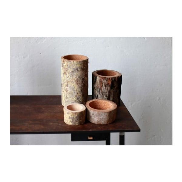 Palmová svíčka Palm Legno s vůní vanilky a pačuli, 240 hodin hoření