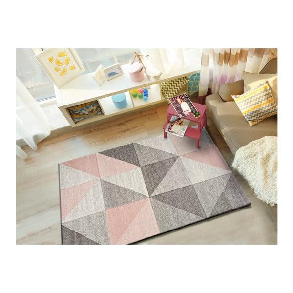 Retudo Naia rózsaszín-szürke szőnyeg, 160 x 230 cm - Universal