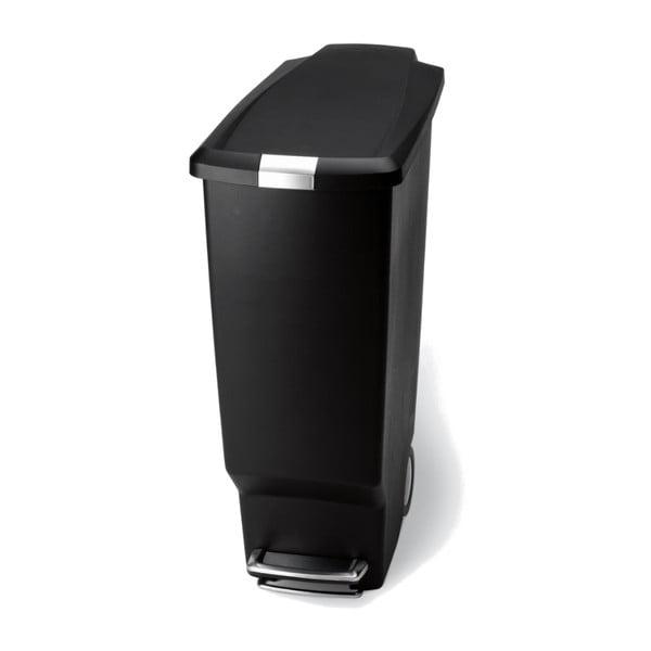 Černý pedálový koš na odpadky simplehuman Sisi, 25 l