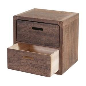 Dřevěná komoda z tmavého dřeva Mendler Shabby Trento
