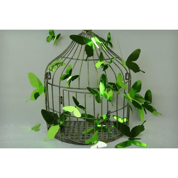 Set de 12 autocolante cu efect 3D Ambiance Butterflies Green