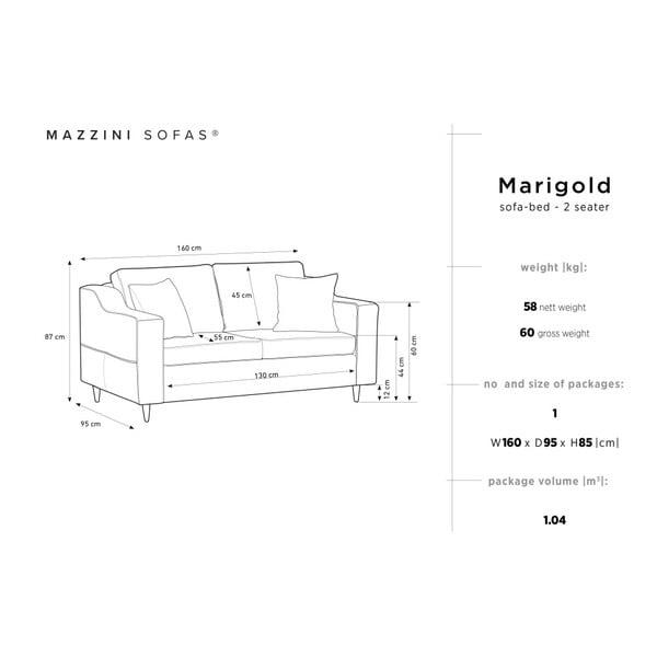 Šedomodrá dvoumístná pohovka Mazzini Sofas Marigold