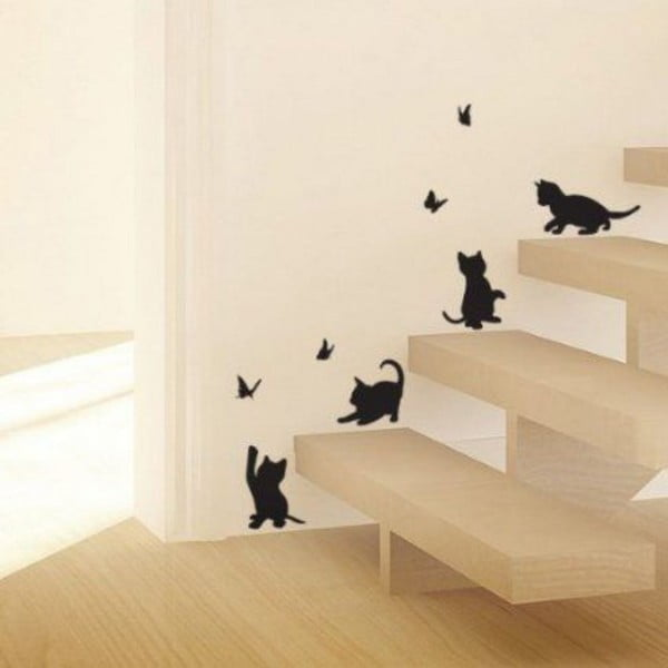 Kitten dekoratív falmatrica