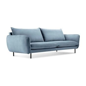 Canapea cu 3 locuri Cosmopolitan Design Vienna, albastru deschis de la Cosmopolitan Design