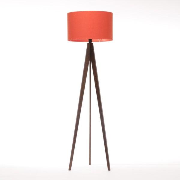Červená stojací lampa Artist, hnědá lakovaná bříza, 150 cm