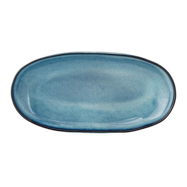 Sandrine kék kerámia tálca - Bloomingville