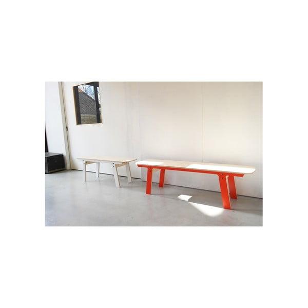 Černá lavice na sezení rform Slim 01, délka 165 cm