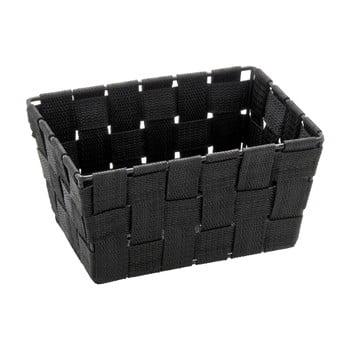 Coș pentru depozitare Wenko Adria, 14 x 19 cm, negru imagine