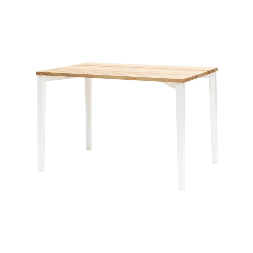 Bílý jídelní stůl Ragaba TRIVENTI, 80x120cm