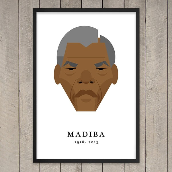 Plakát Nelson Mandela, 29,7x42 cm