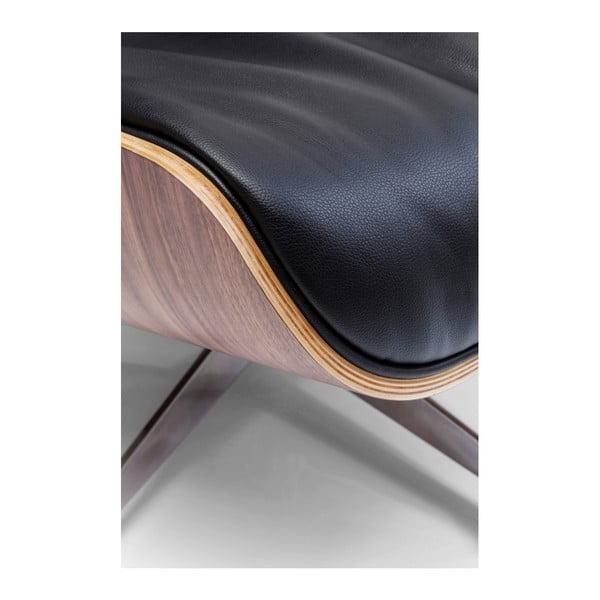 Černá podnožka  Kare Design Ponte