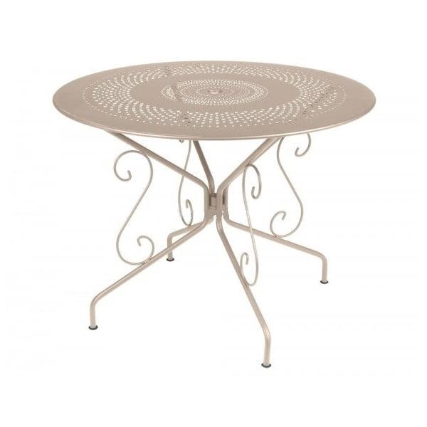 Světle béžový kovový stůl Fermob Montmartre, Ø96cm
