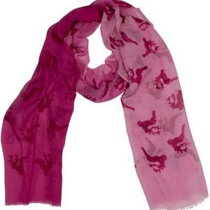 Růžový šátek Goldgeweih Lara