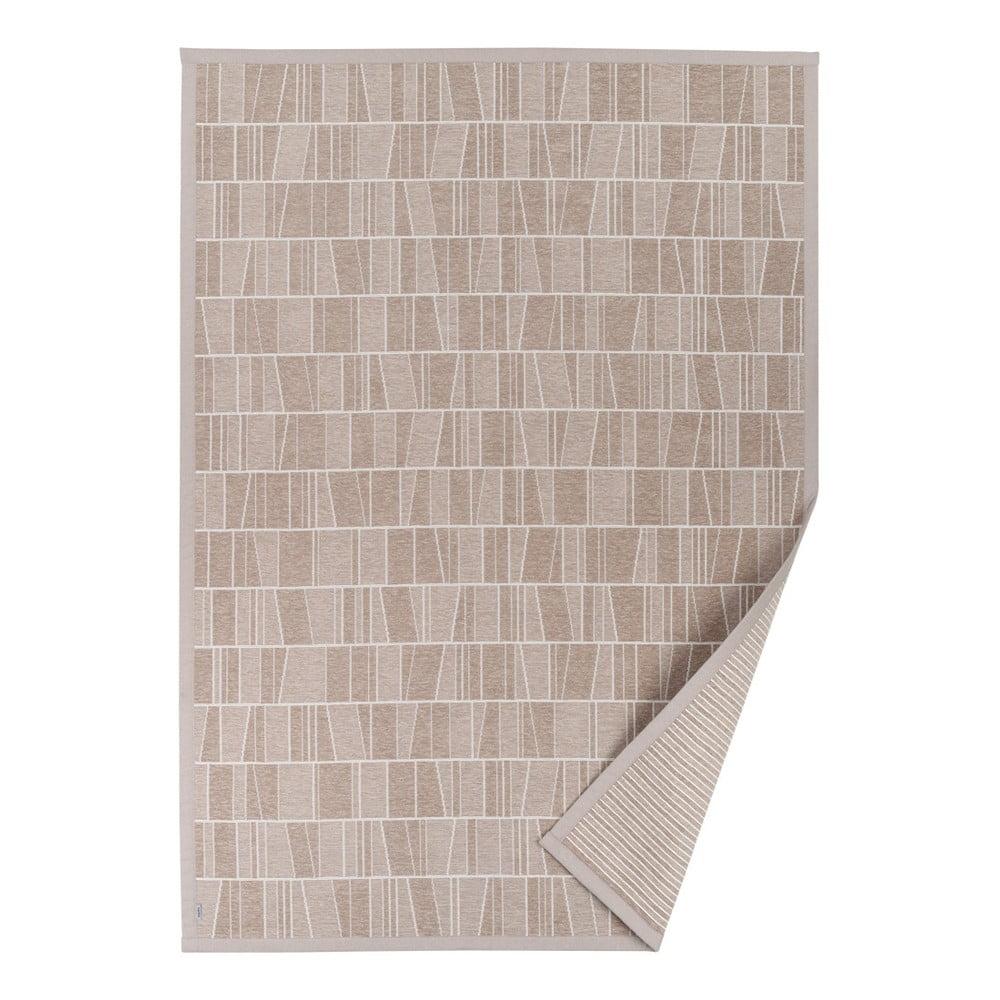 Fotografie Béžový vzorovaný oboustranný koberec Narma Kursi, 70x140cm