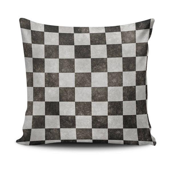Polštář s výplní Black and Grey, 45x45 cm