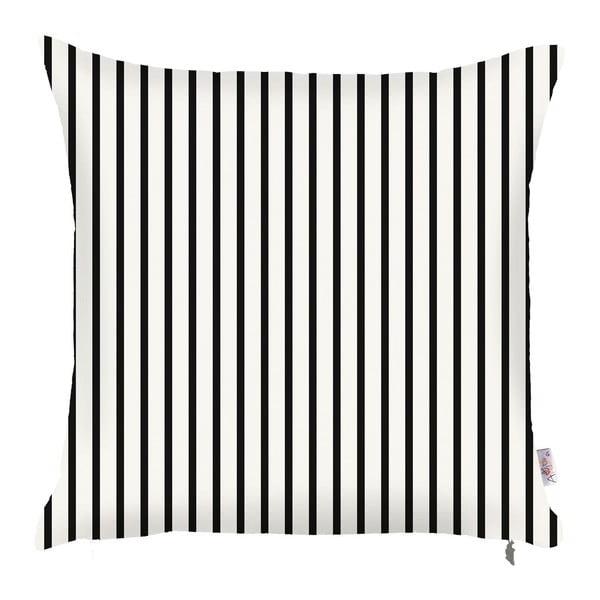 Czarno-biała poszewka na poduszkę Apolena Pinky Light Stripes, 43x43 cm