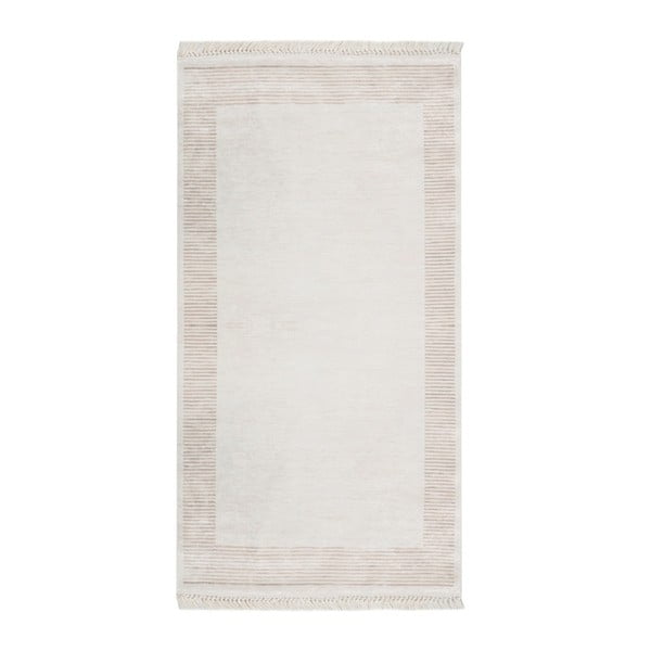 Sametový koberec Deri Dijital Rosuna Light Brown, 80x150cm