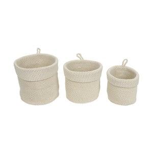 Sada 3 bílých košíků na květiny PT Living Weave