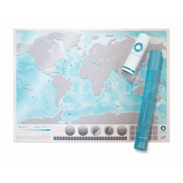 Seškrabávací mapa světa Scratch Map Oceans Edition