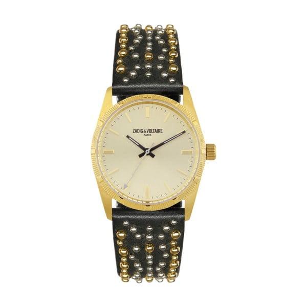 Dámské hodinky s černým páskem Zadig & Voltaire Vintage Dream