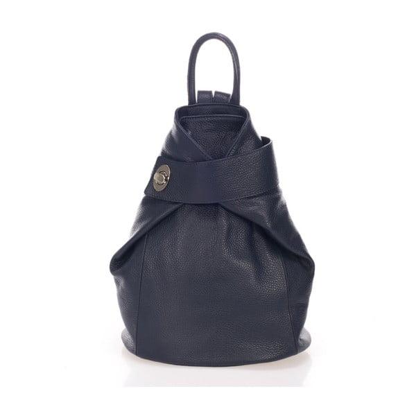 Granatowy plecak skórzany Lisa Minardi Narni