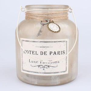Závěsný skleněný svícen s dekorací Dakls