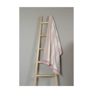 Růžovo-bílý bavlněný ručník My Home Plus Bath, 70 x 135 cm