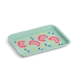 Tác Franjipani Floral Tray, zelený