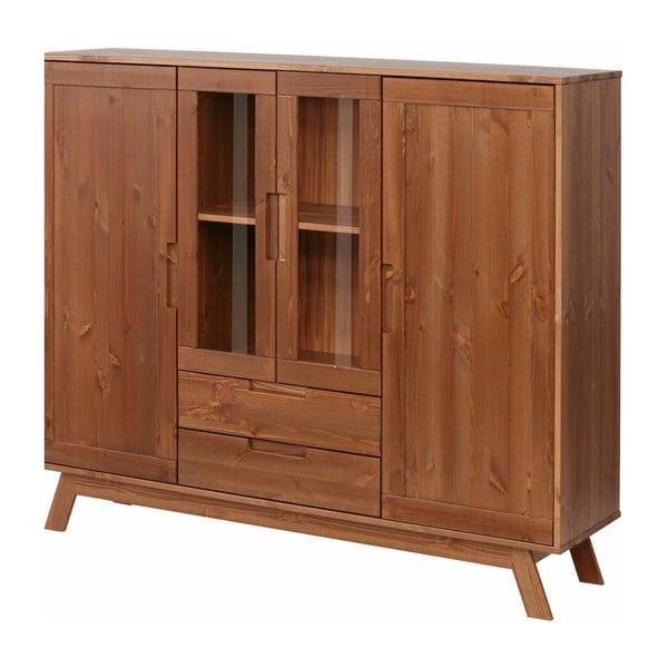 Hnědá dřevěná skříňka Støraa Olive