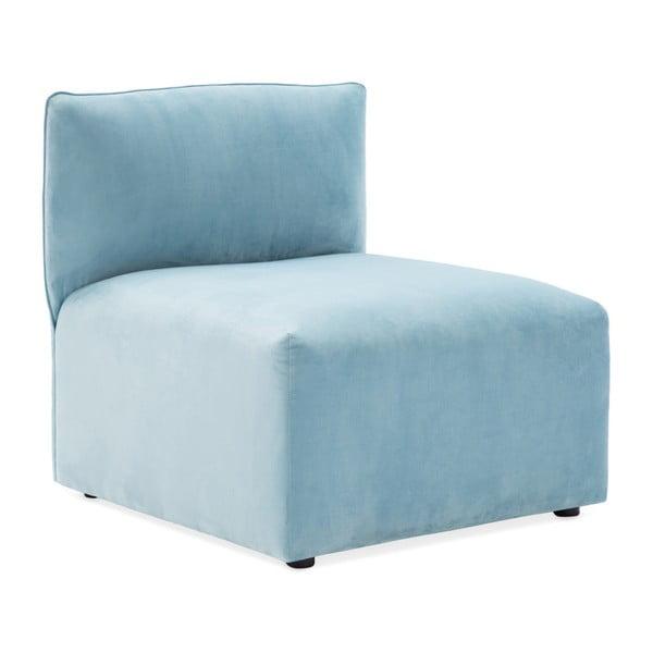 Světle modrý prostřední modul pohovky Vivonita Velvet Cube