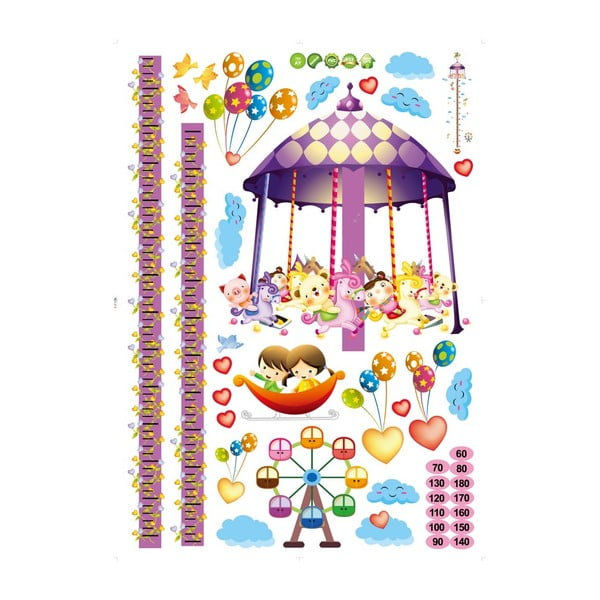 Samolepka s metrem Fanastick Carousel and Balloons