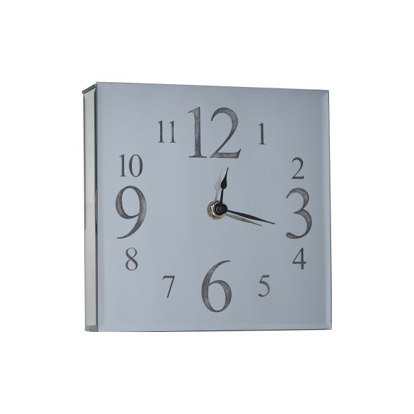 Szklany zegar ścienny Bahne & CO