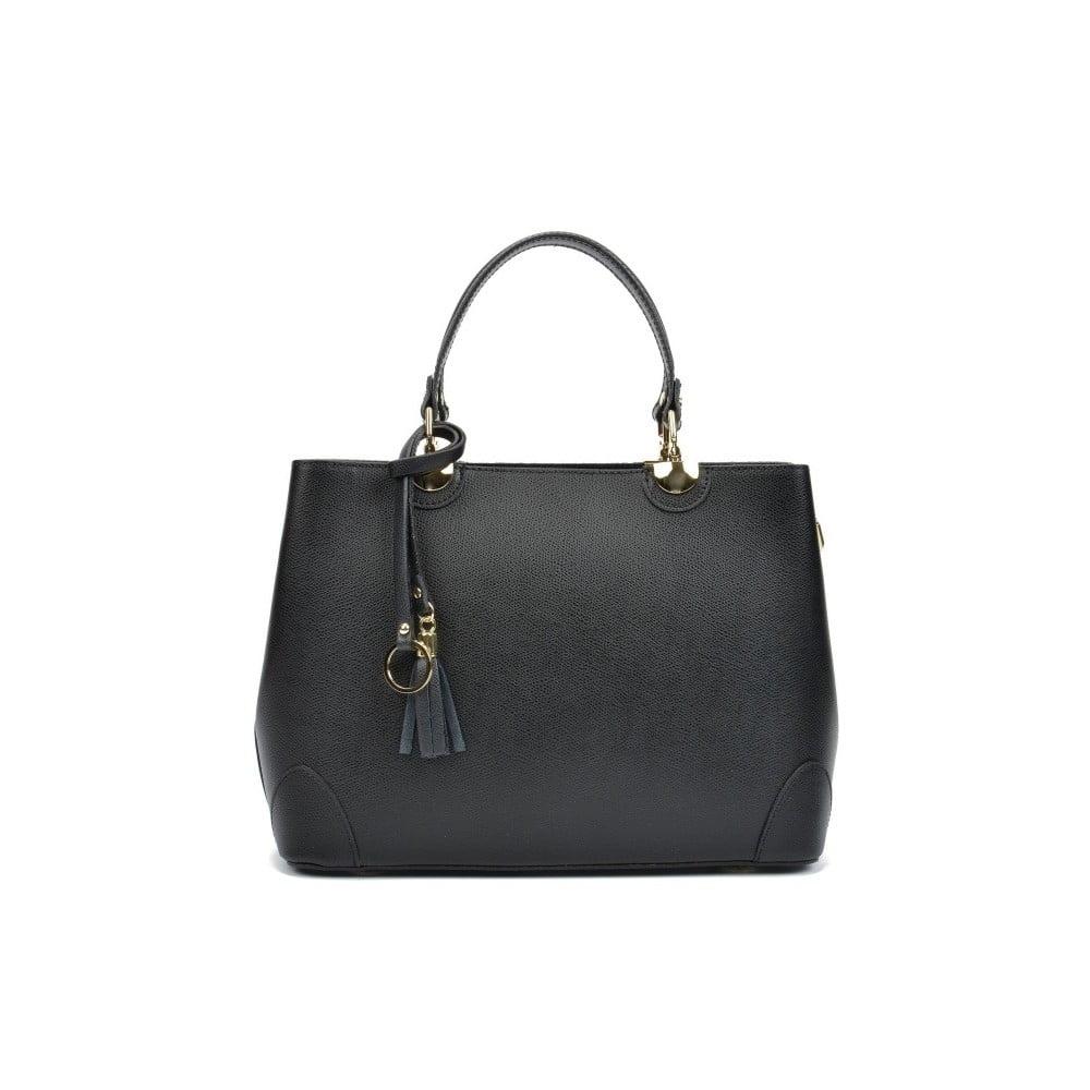 6abb65ed68 Černá kožená kabelka Isabella Rhea London