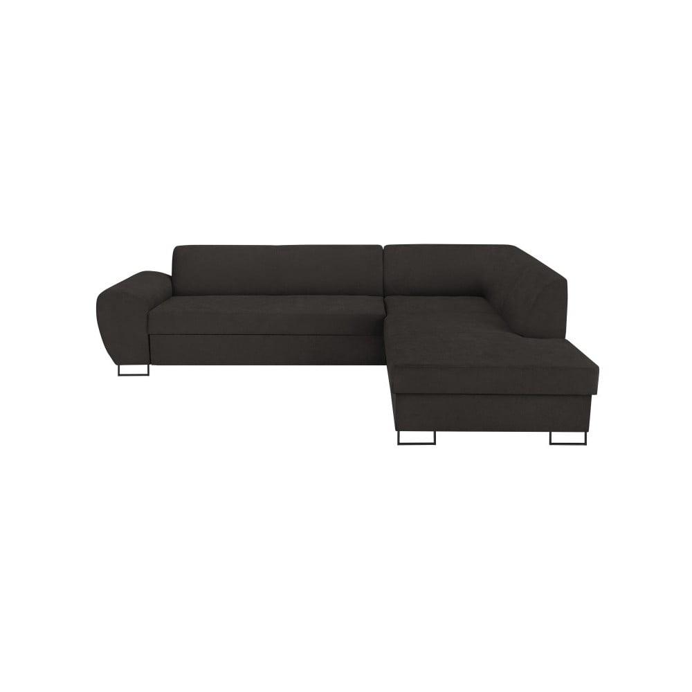 Tmavě šedá rohová rozkládací pohovka s úložným prostorem Kooko Home XL Right Corner Sofa Puro