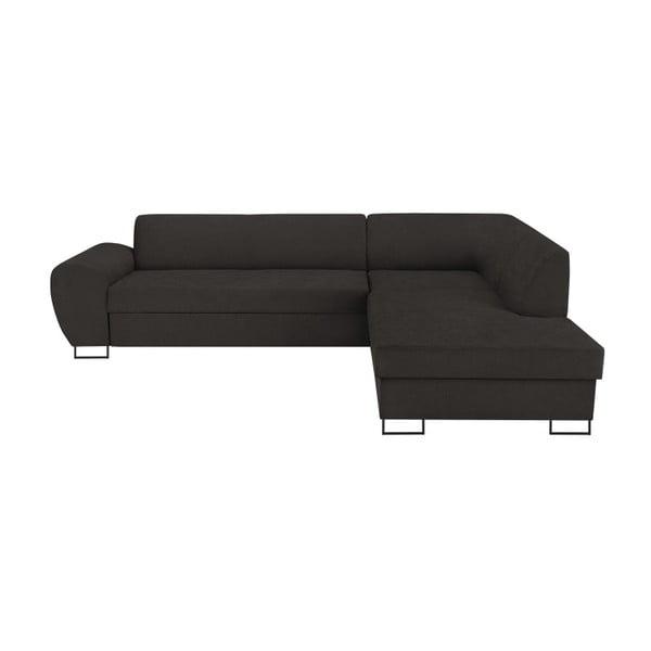 Canapea extensibilă cu spațiu pentru depozitare Kooko Home XL Right Corner Sofa Piano,gri închis