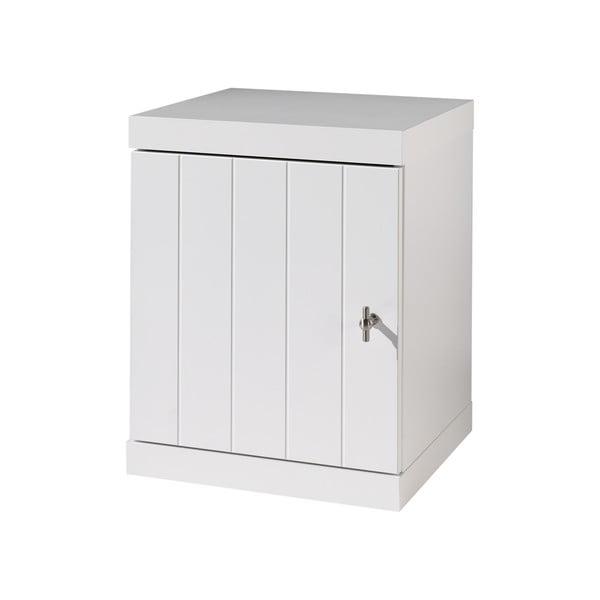 Bílý dětský noční stolek Vipack Robin, šířka 44 cm