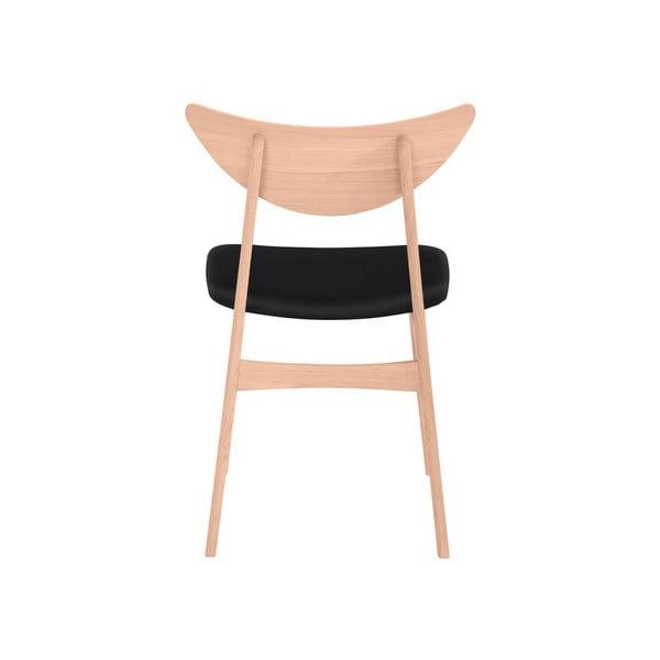 Sada 2 jídelních židlí z masivního dubového dřeva s hnědým sedákem WOOD AND VISION Chief