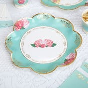 Sada 8 papírových talířů Neviti Eternal Rose