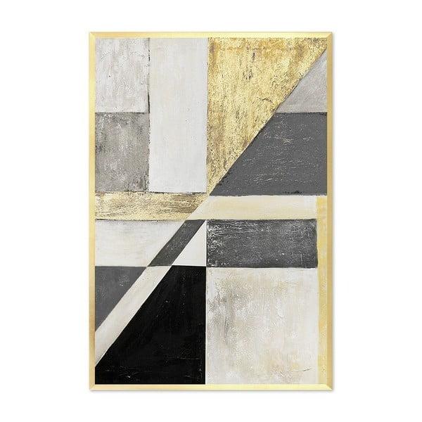 Nástěnný ručně malovaný obraz JohnsonStyle The Art Deco Geometry IV, 63 x 93 cm