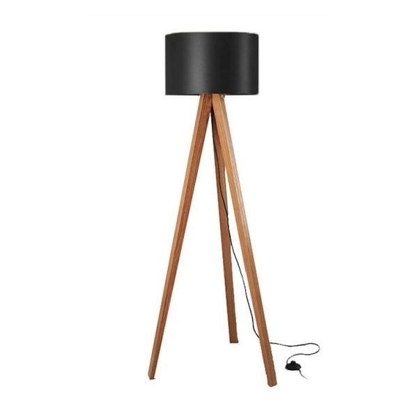 Stojací lampa Tripod Black/Walnut