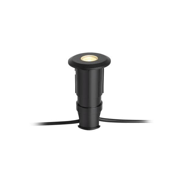 Čierne zápustné svietidlo Markslöjd Garden Decklight, ø 60 mm
