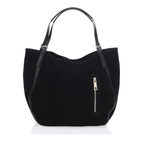Kožená kabelka Krole Karin, černá