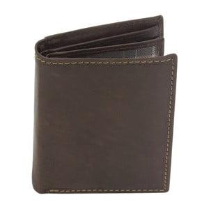 Hnědá kožená peněženka Friedrich Lederwaren Stitch